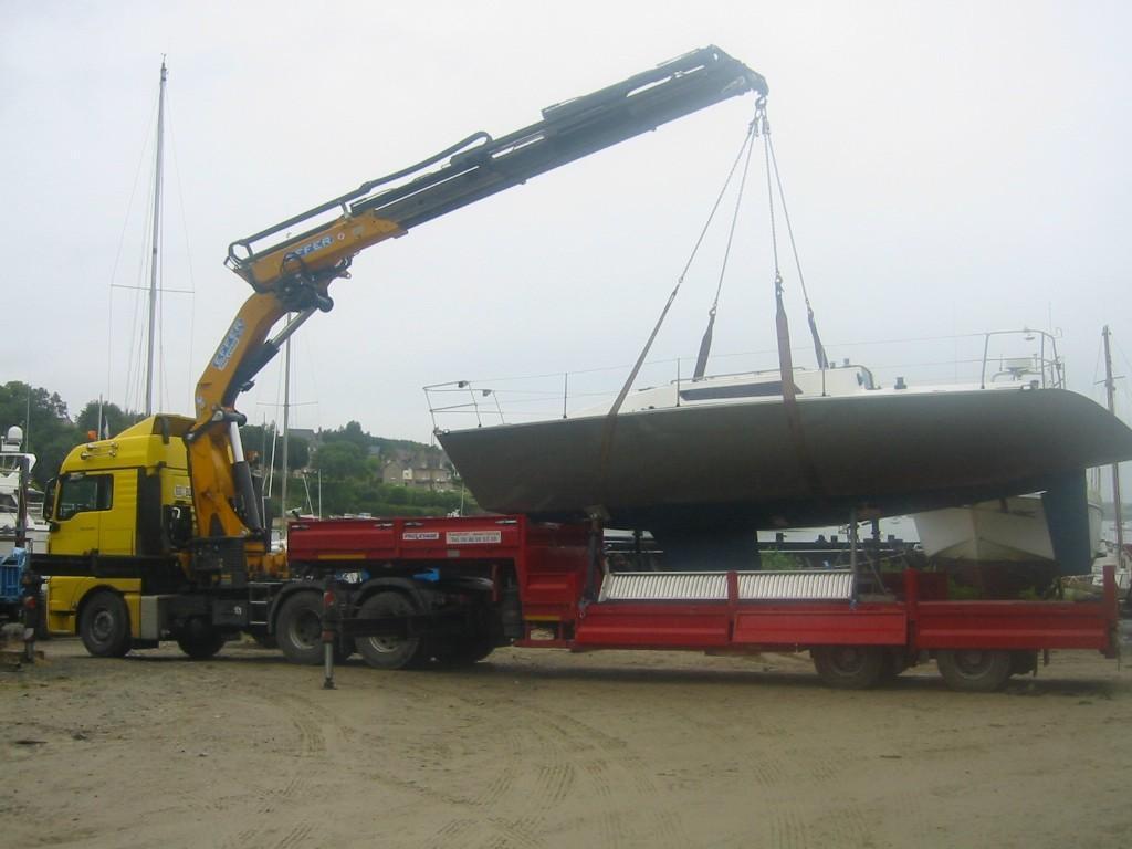 Transport bateau par route finistere